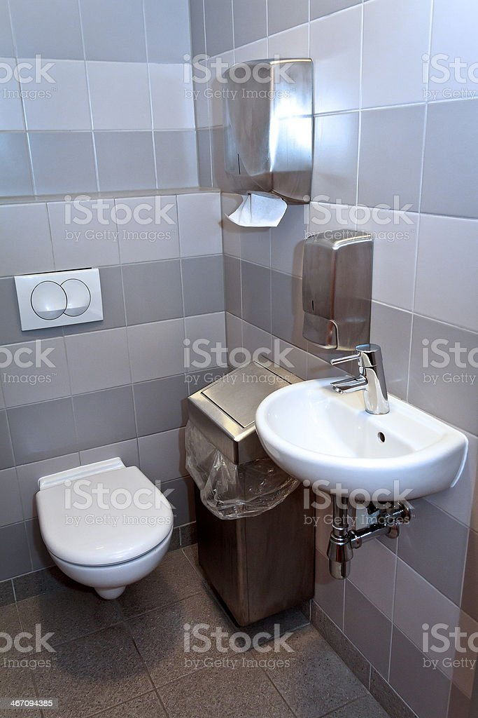 Modern toilet royalty-free stock photo