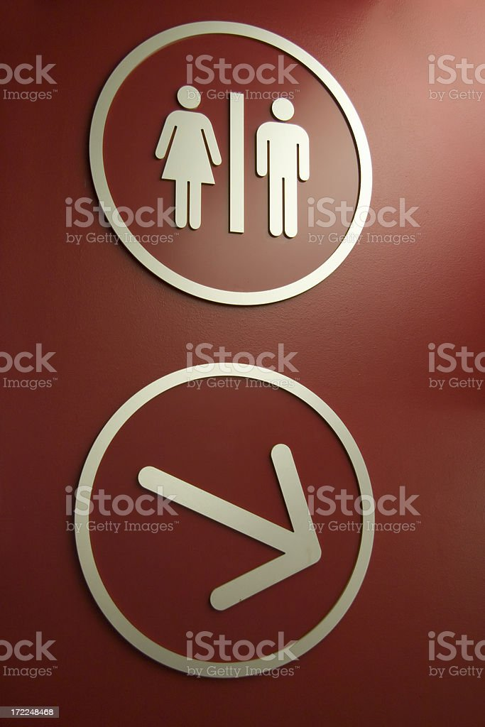 modern toilet sign royalty-free stock photo