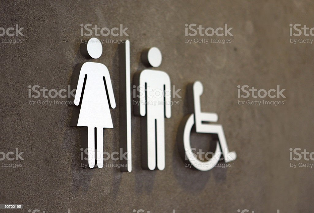 modern toilet sign stock photo