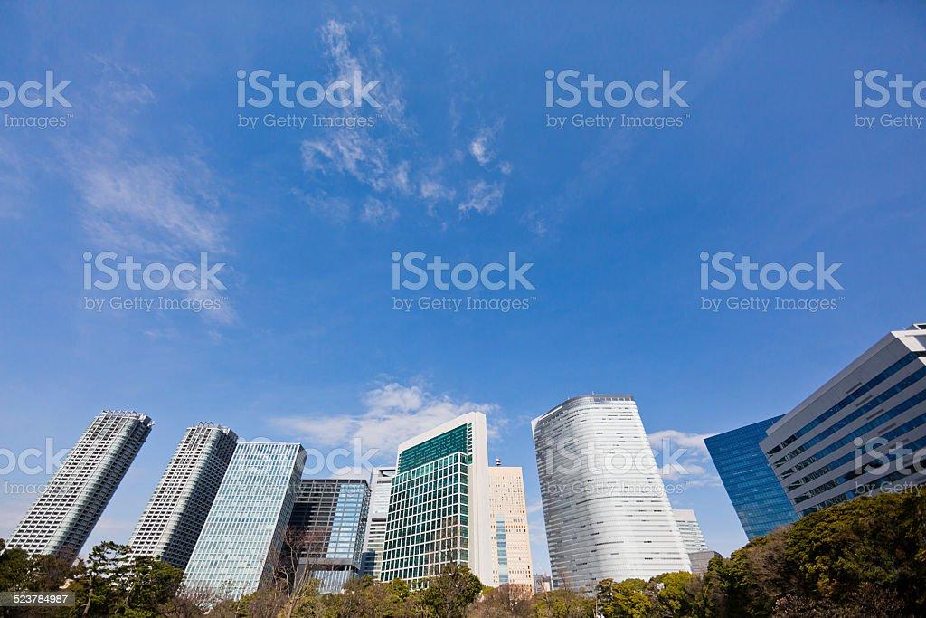 Modern Tokyo Office Buildings stock photo