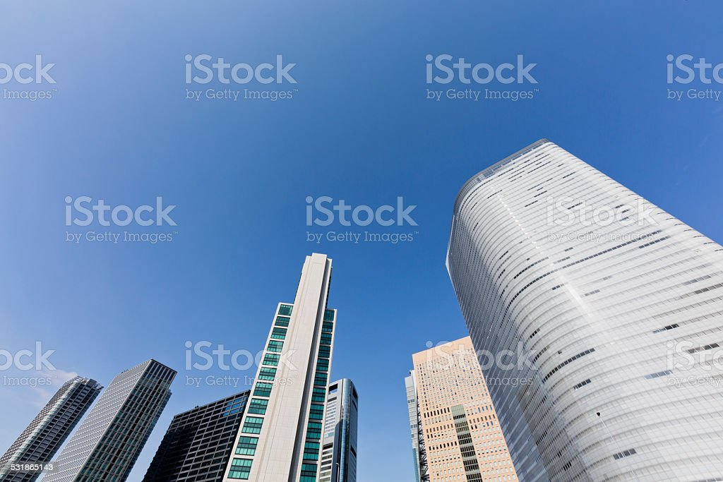 Modern Tokyo Office Buildings stock photo