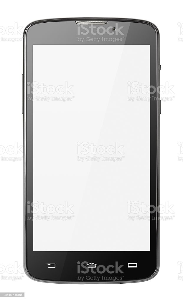 Modern touch screen smartphone isolated on white stock photo