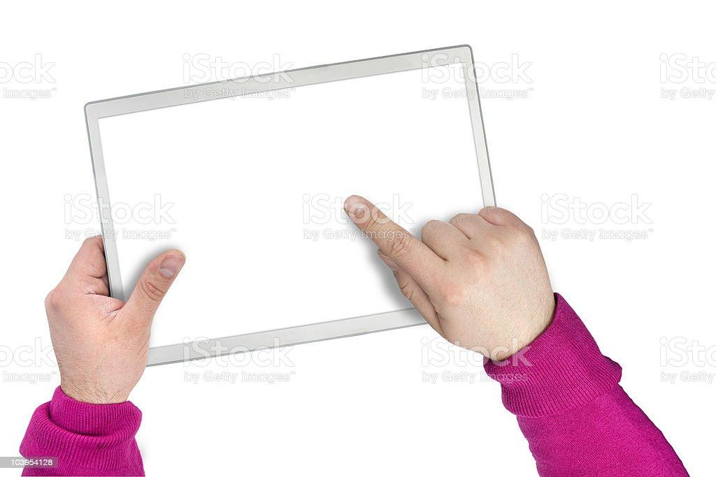 Moderne touchscreen-tablet oder Bildschirm Lizenzfreies stock-foto