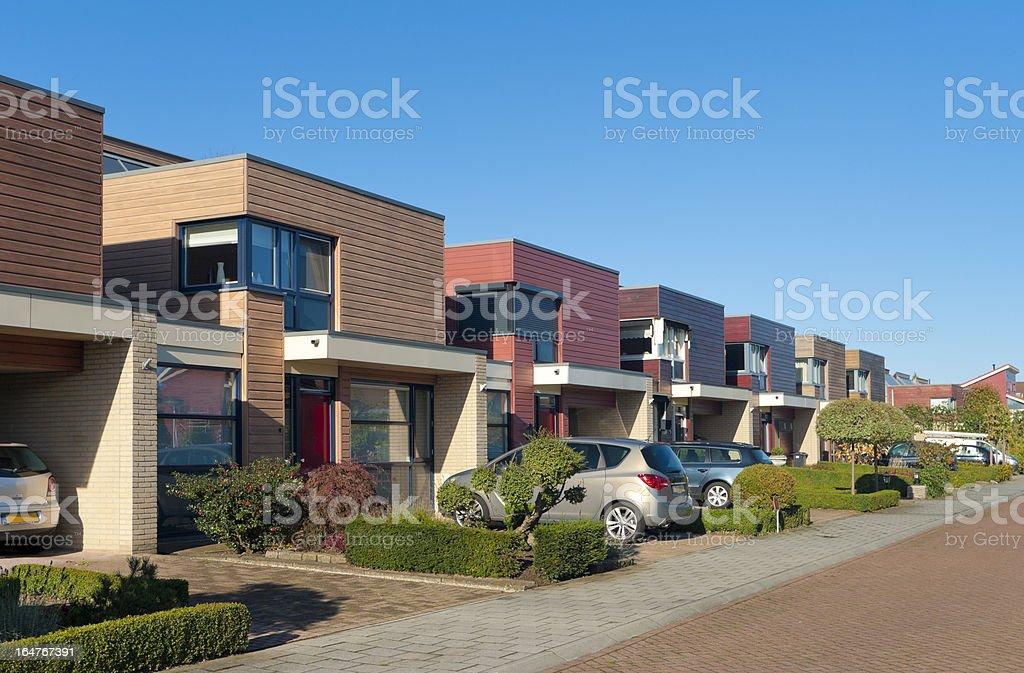modern town houses royalty-free stock photo
