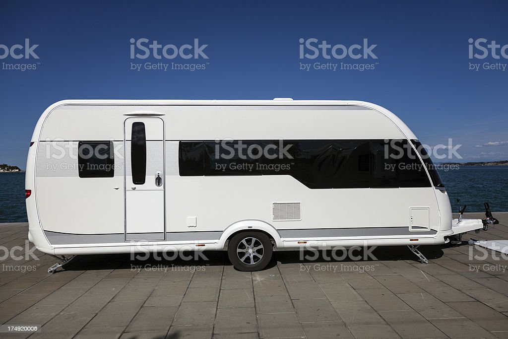 Modern Trailer royalty-free stock photo