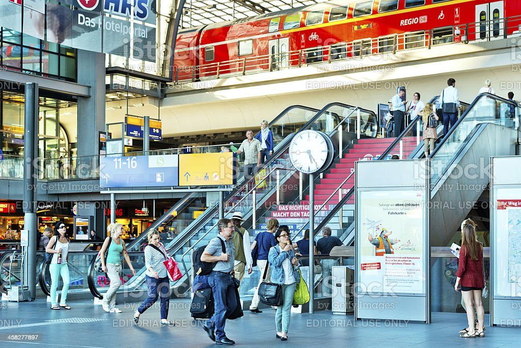 Modern Train Station in Berlin royalty-free stock photo