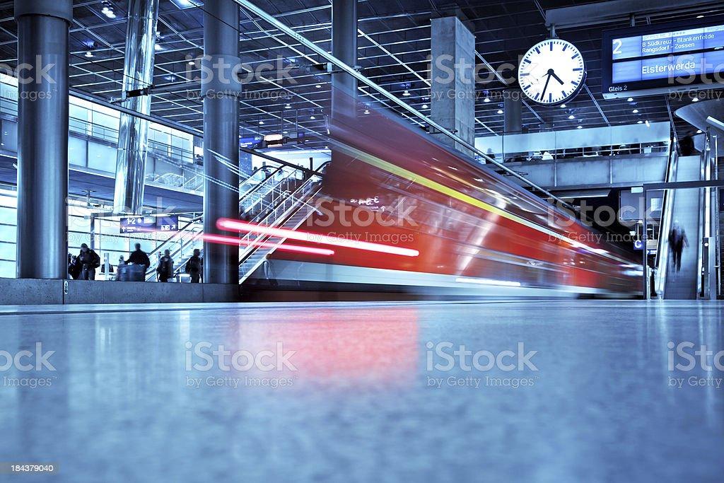 modern train station stock photo