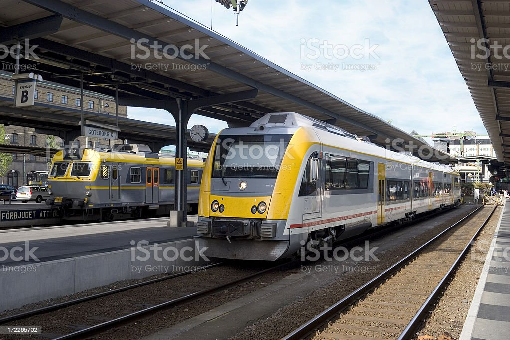 Modern trains royalty-free stock photo