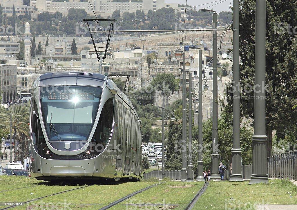 modern tram royalty-free stock photo