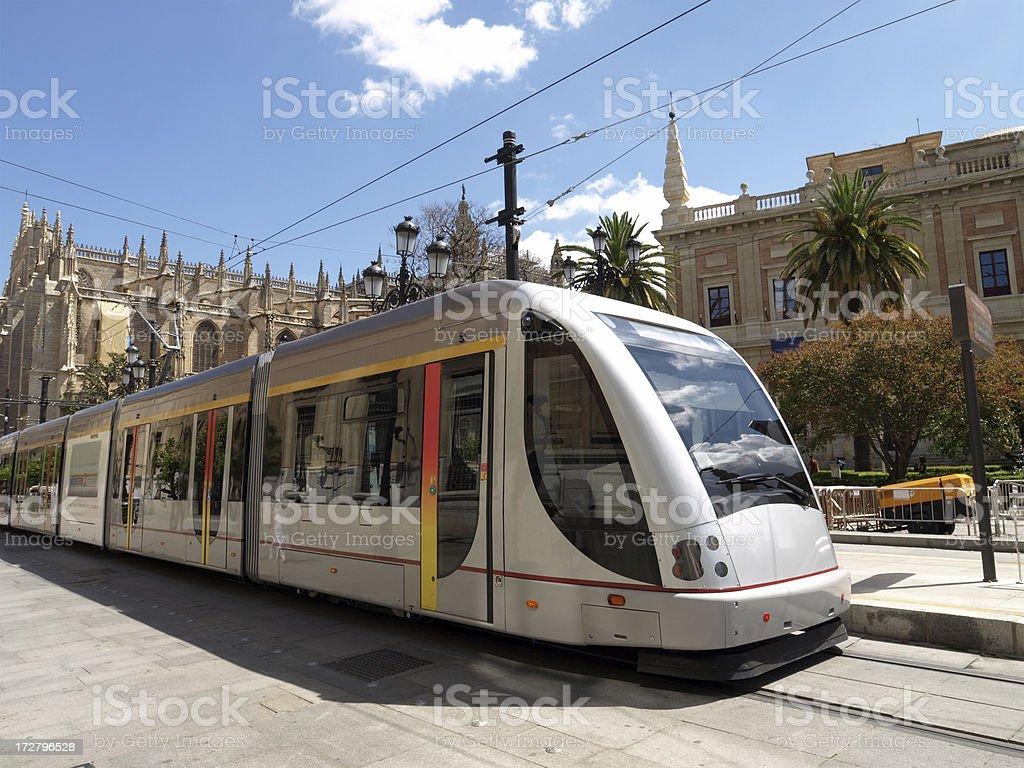 Modern Tram, Seville royalty-free stock photo