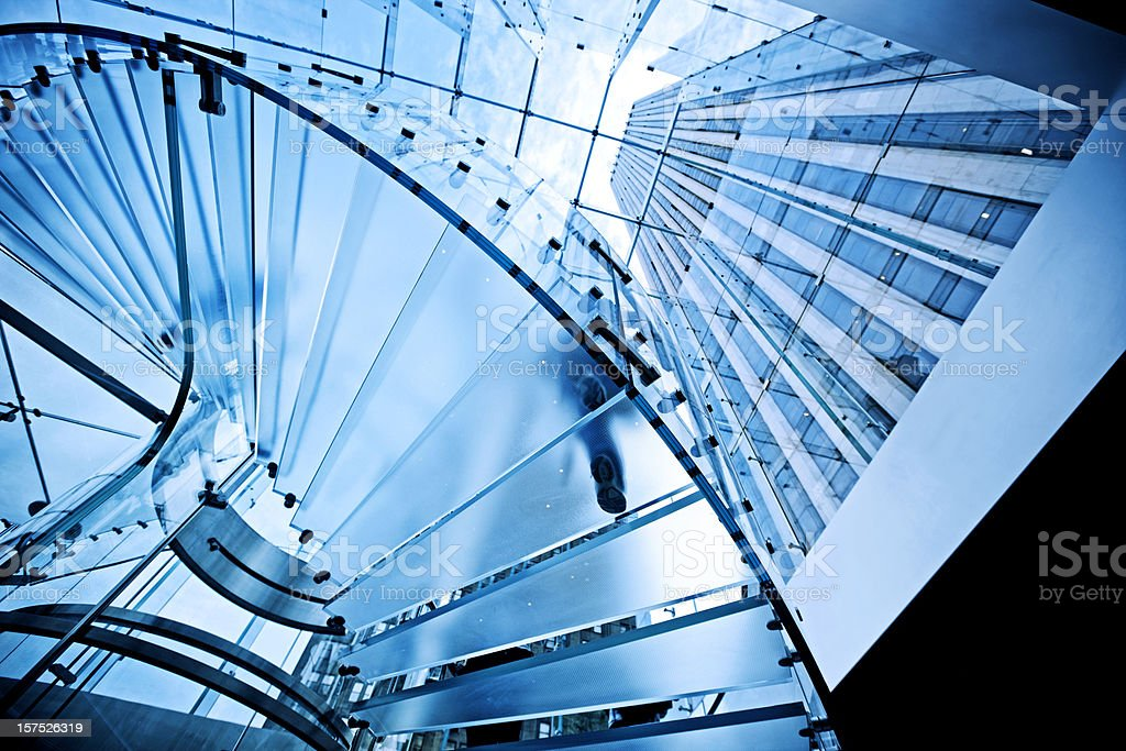 Modern Transparent Staircase royalty-free stock photo
