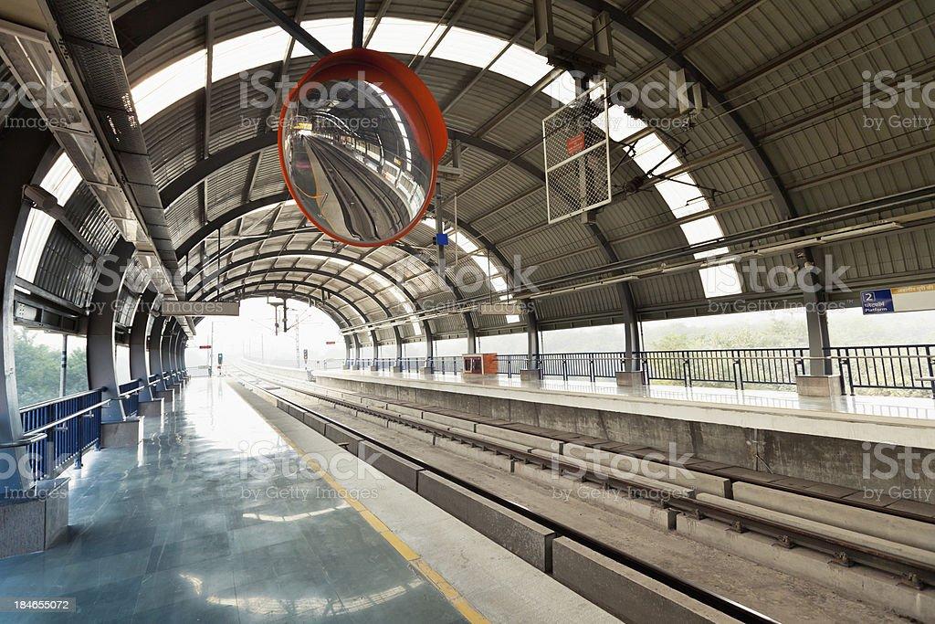Modern Transportation India New Delhi Metro Subway royalty-free stock photo