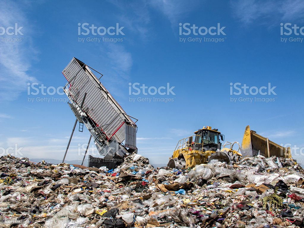 Modern Trash Disposal stock photo