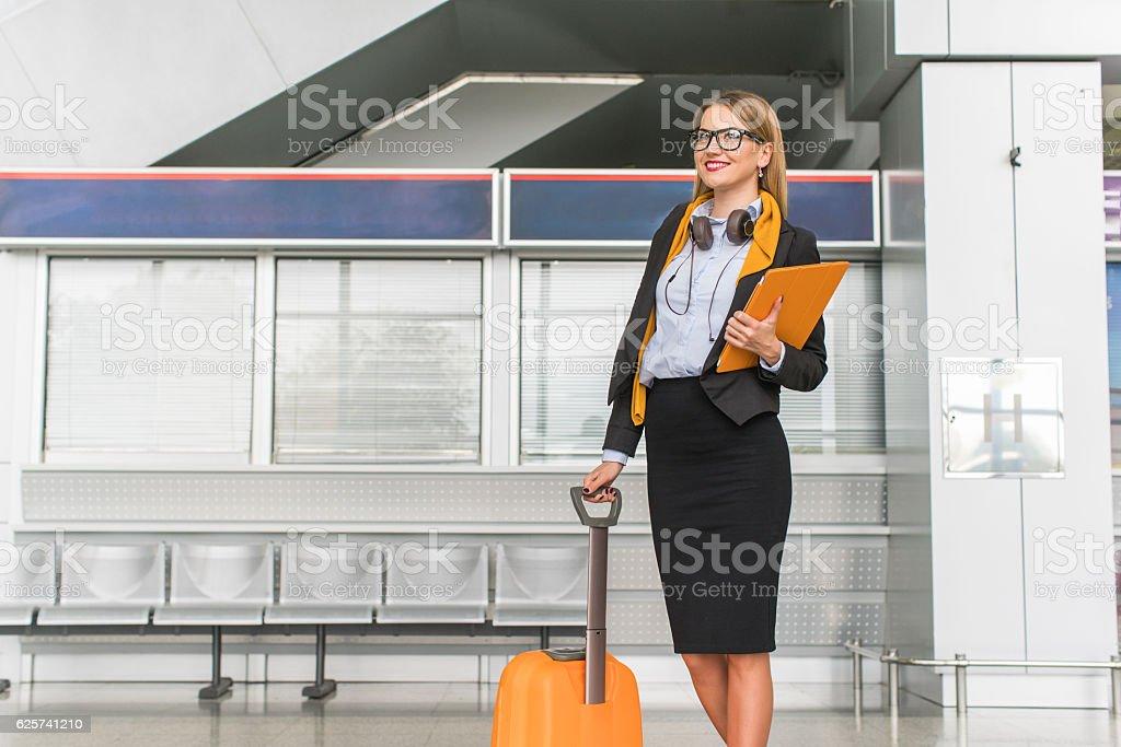 Modern traveller stock photo