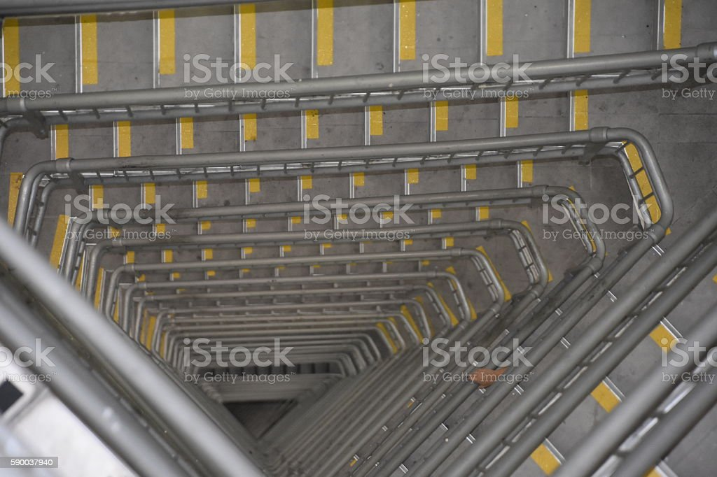 modern triangle staircase stock photo