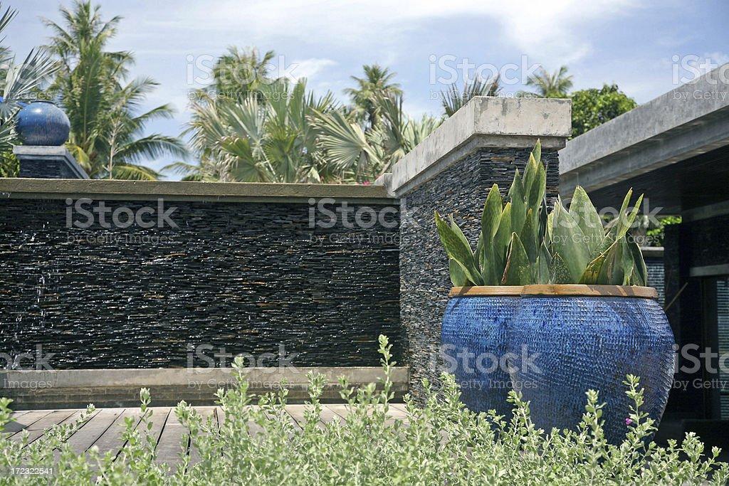 Modern Tropical Garden royalty-free stock photo