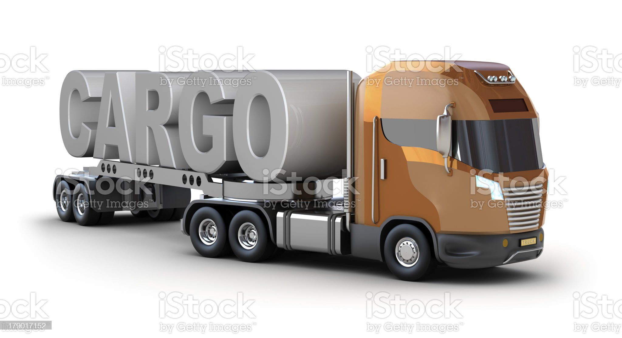 Modern truck with cargo word royalty-free stock photo