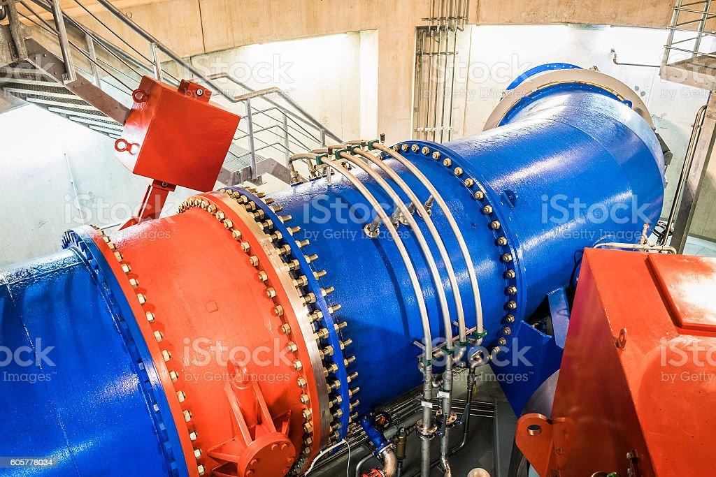 modern turbine stock photo