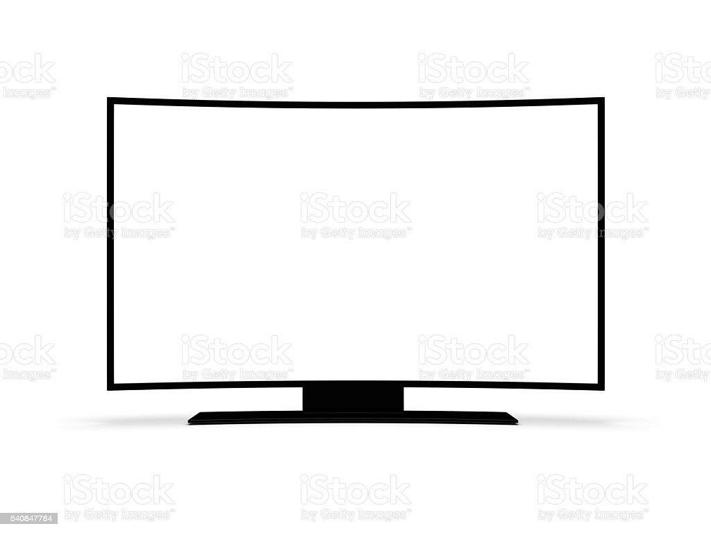 Modern TV on a white background. 3d rendering. royalty-free stock photo