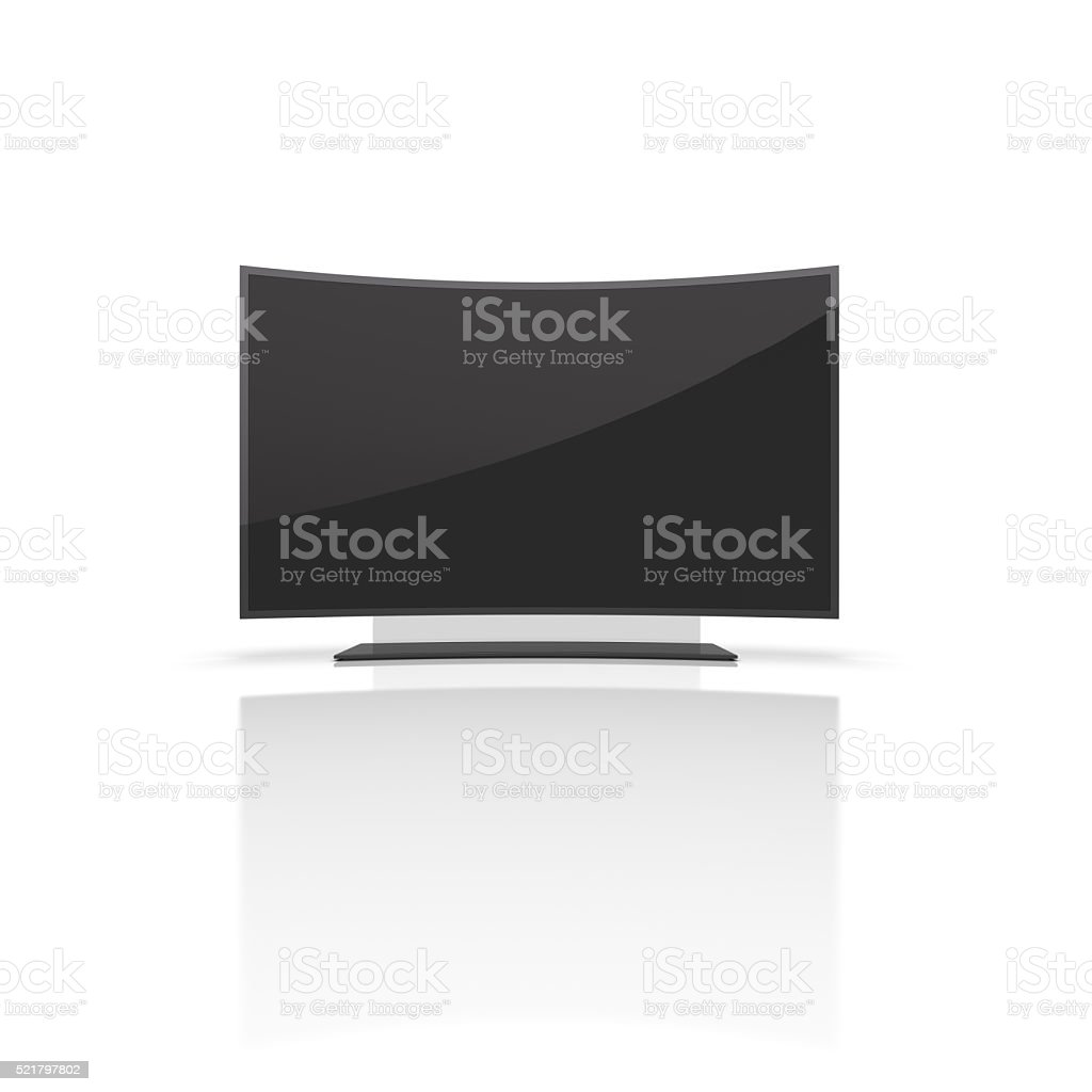 Modern TV on a white background. royalty-free stock photo