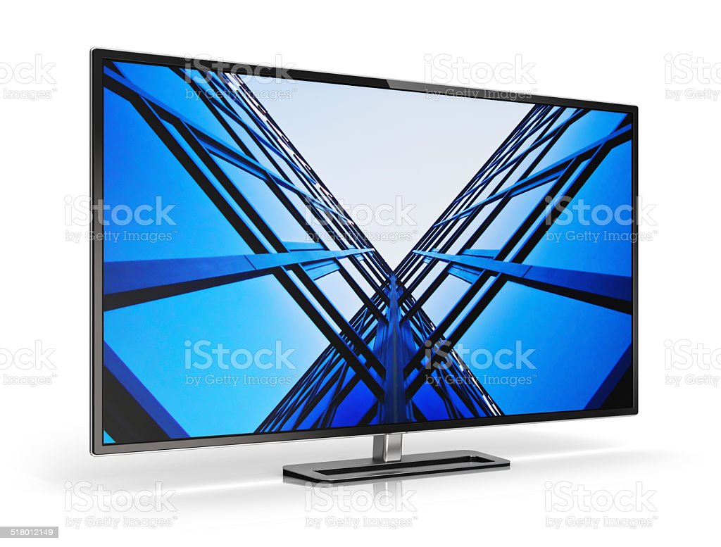 Modern TV stock photo