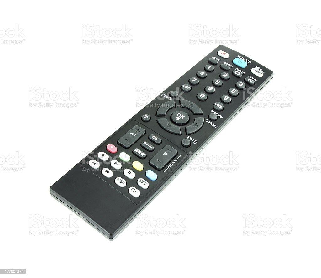 modern tv remote royalty-free stock photo