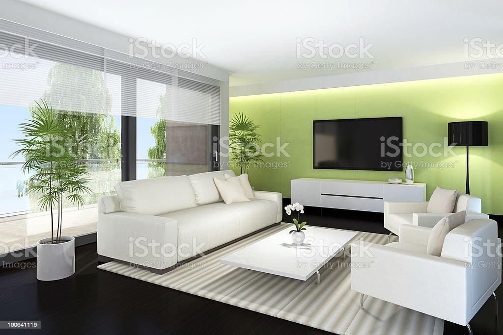 Modern TV Room royalty-free stock photo