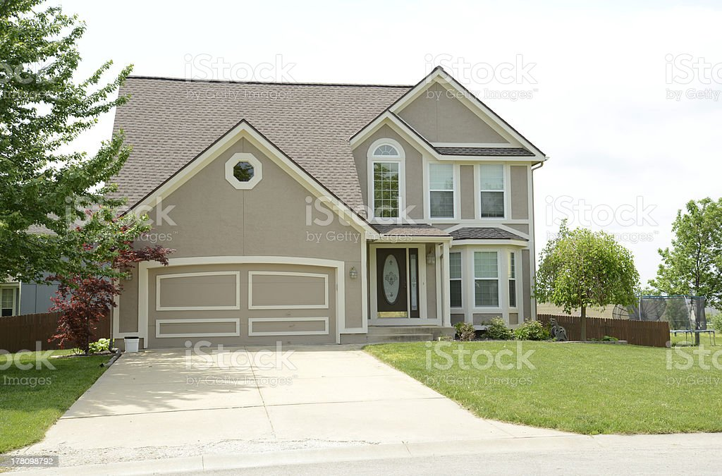 Modern Two Story House With Stucco stock photo 178098792 iStock