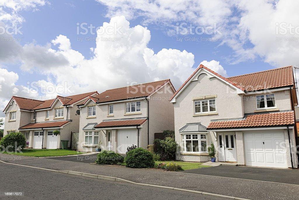 Modern UK Houses royalty-free stock photo
