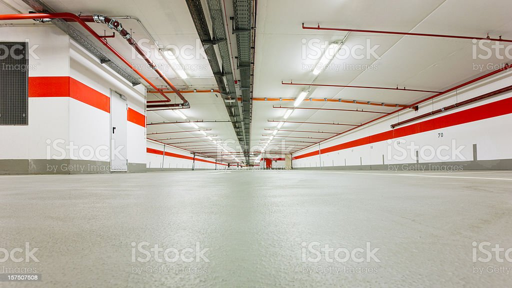 Modern Underground Parking Garage stock photo