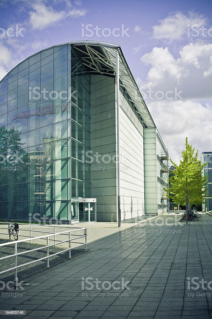 Modern University Architecture in Cambridge stock photo