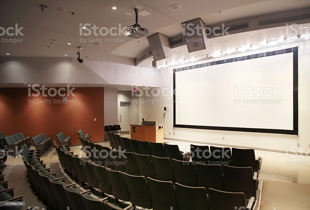 Modern University Lecture Hall stock photo