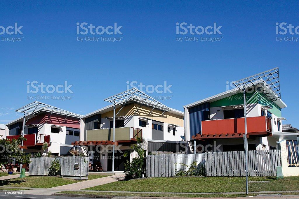 Modern Urban Apartments royalty-free stock photo