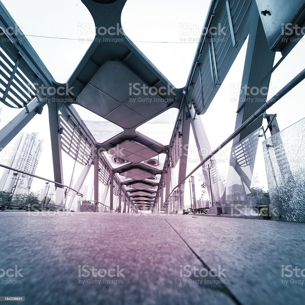 modern urban city architectural platform bridge royalty-free stock photo