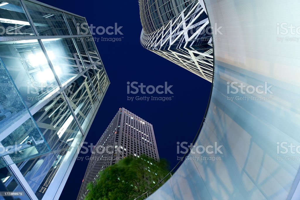 Modern urban landscape seen from a low angle. royalty-free stock photo