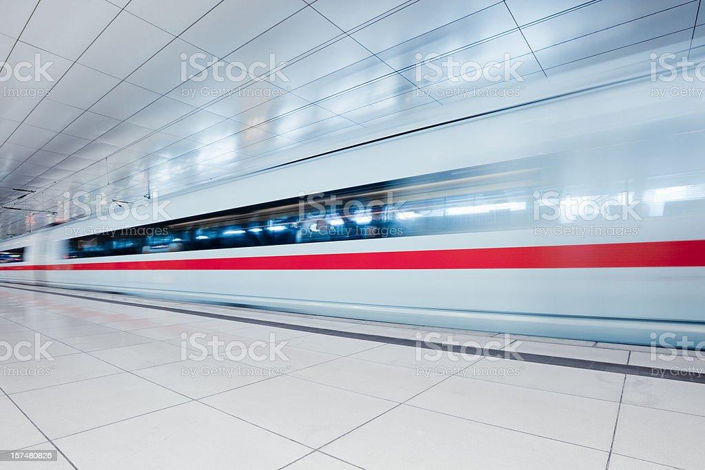 Modern Urban Train Station stock photo