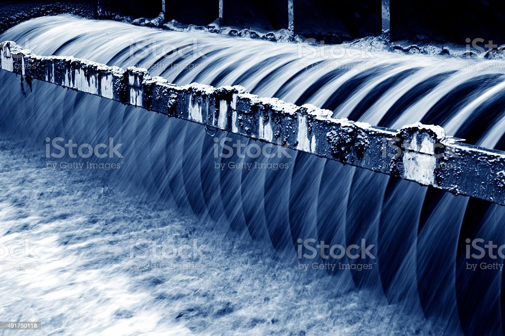 Modern urban wastewater treatment plant. stock photo