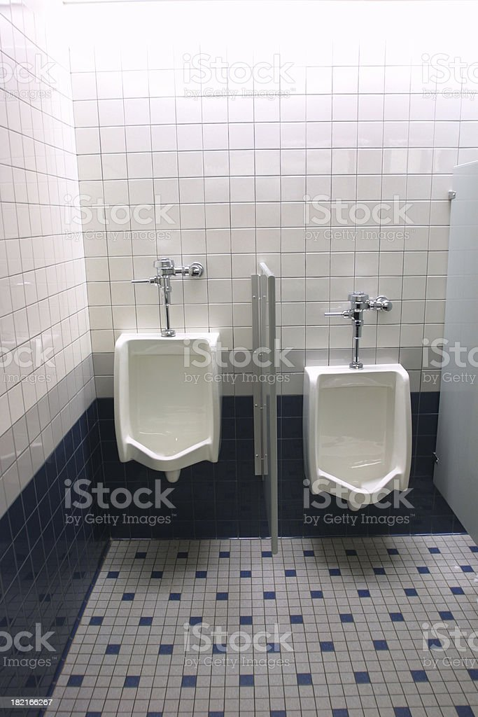 Modern urinals royalty-free stock photo
