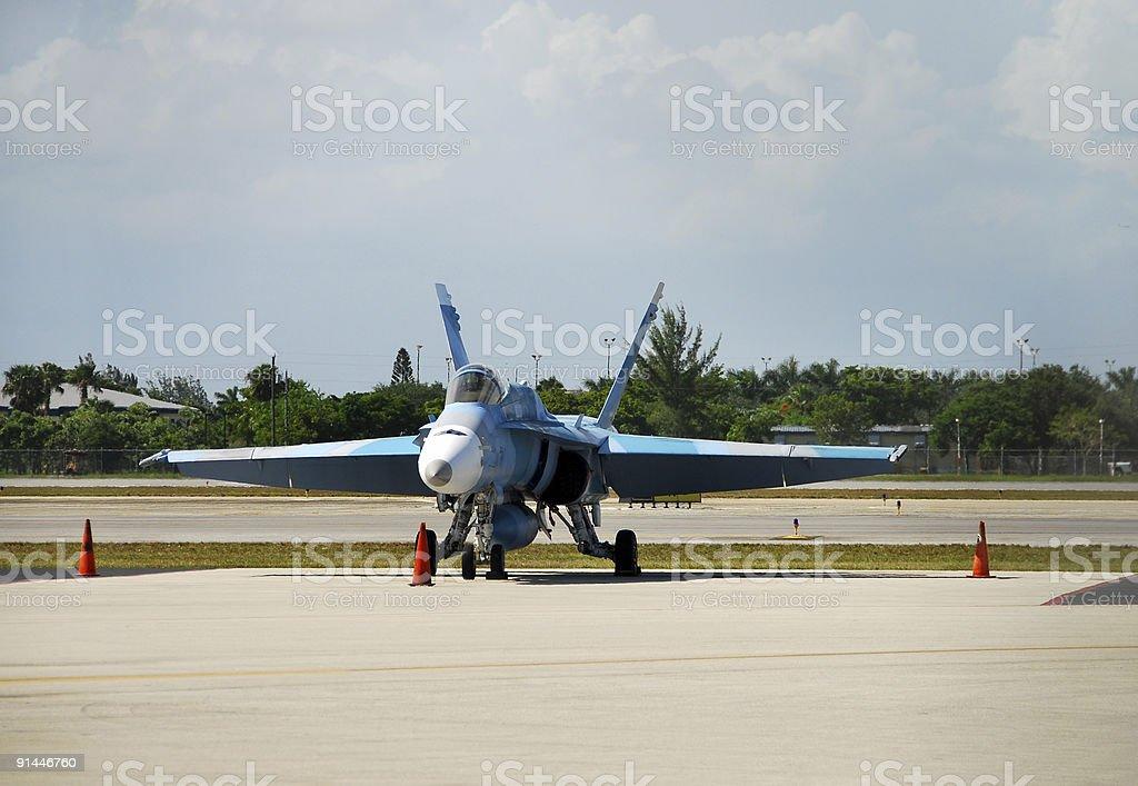 Modern US Navy jet royalty-free stock photo
