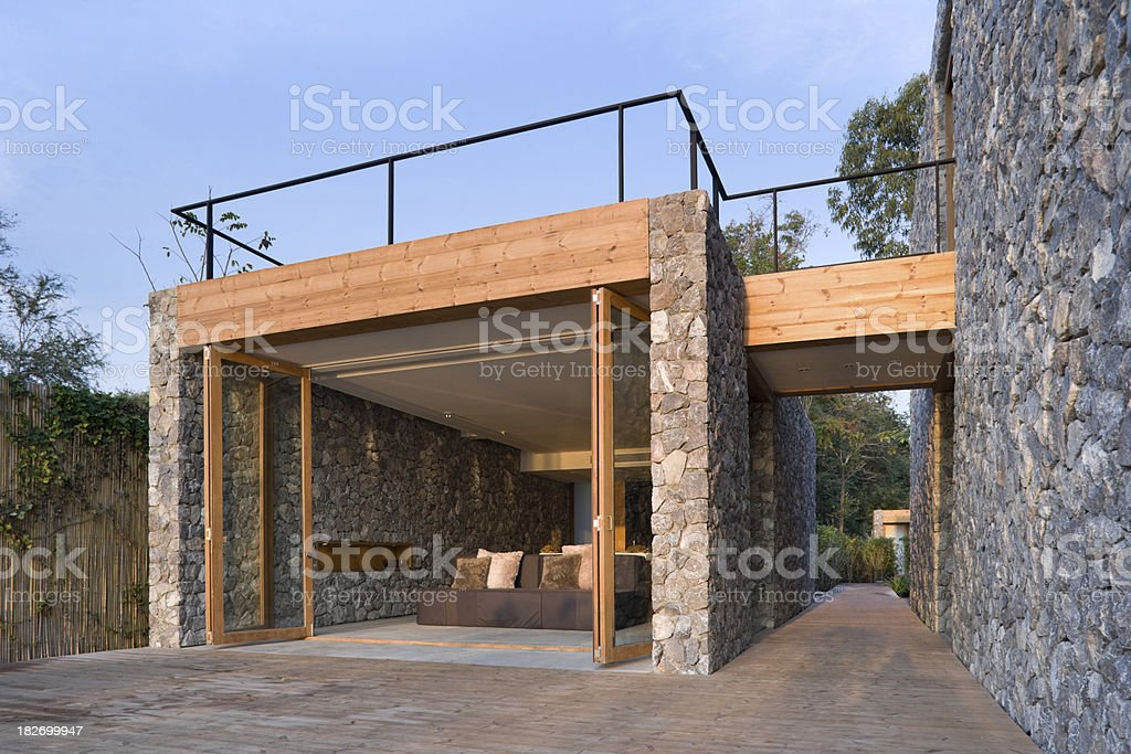 Modern Vacation Villa royalty-free stock photo