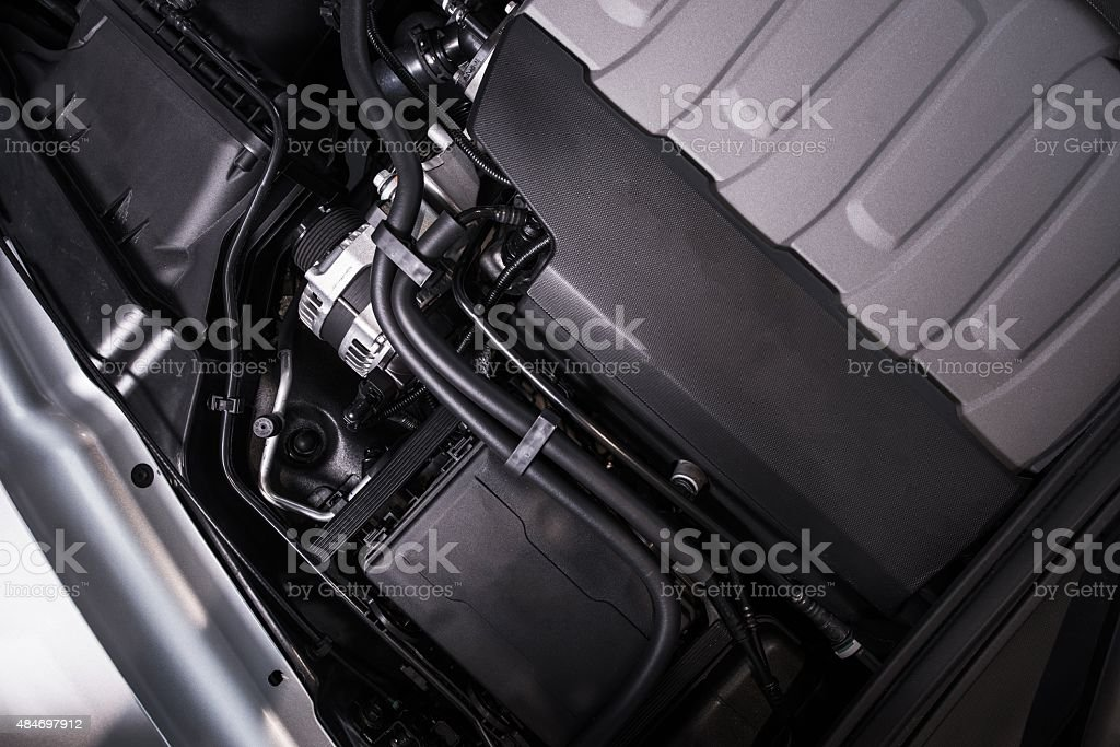 Modern Vehicle Engine stock photo