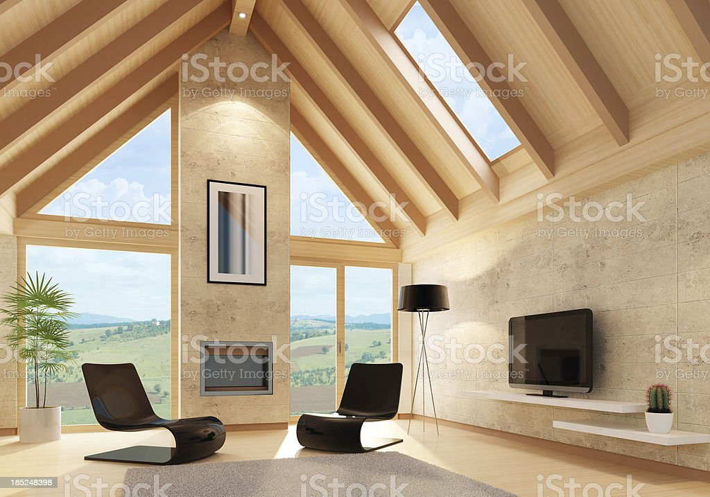 Modern Villa Interior royalty-free stock photo