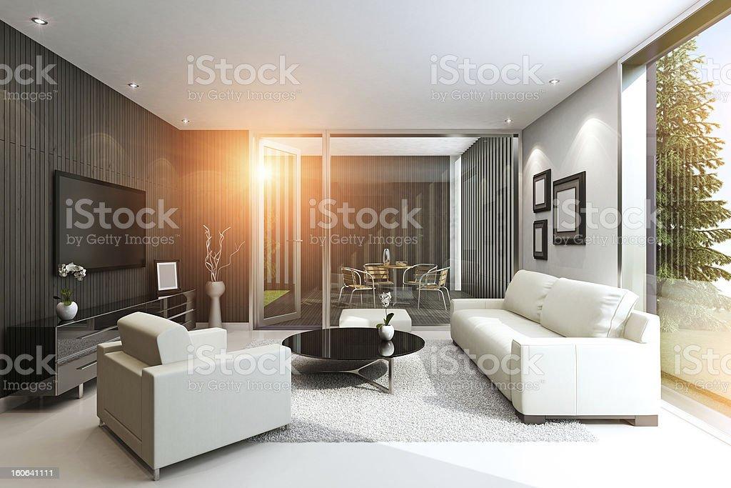Modern Villa Summer royalty-free stock photo