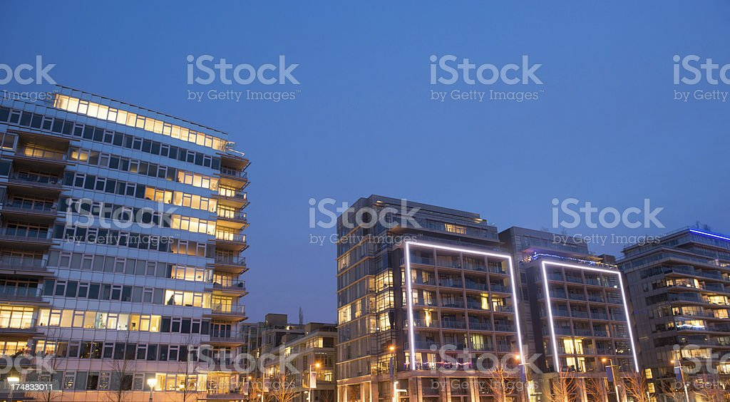Modern Village Apartments royalty-free stock photo