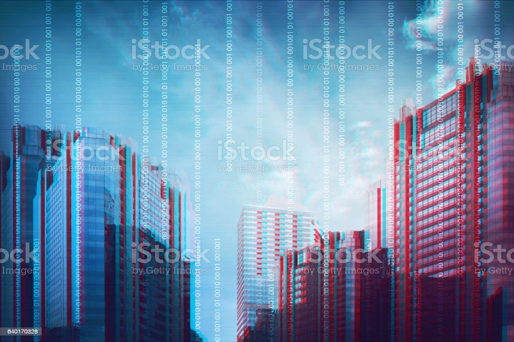 Modern virtual screen stock photo