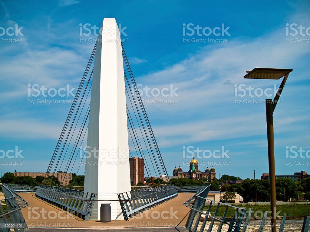 Modern Walking Bridge stock photo