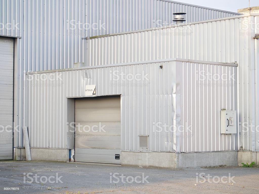 modern warehouse entry royalty-free stock photo