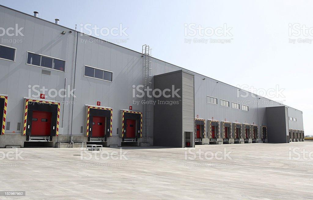modern warehouse stock photo