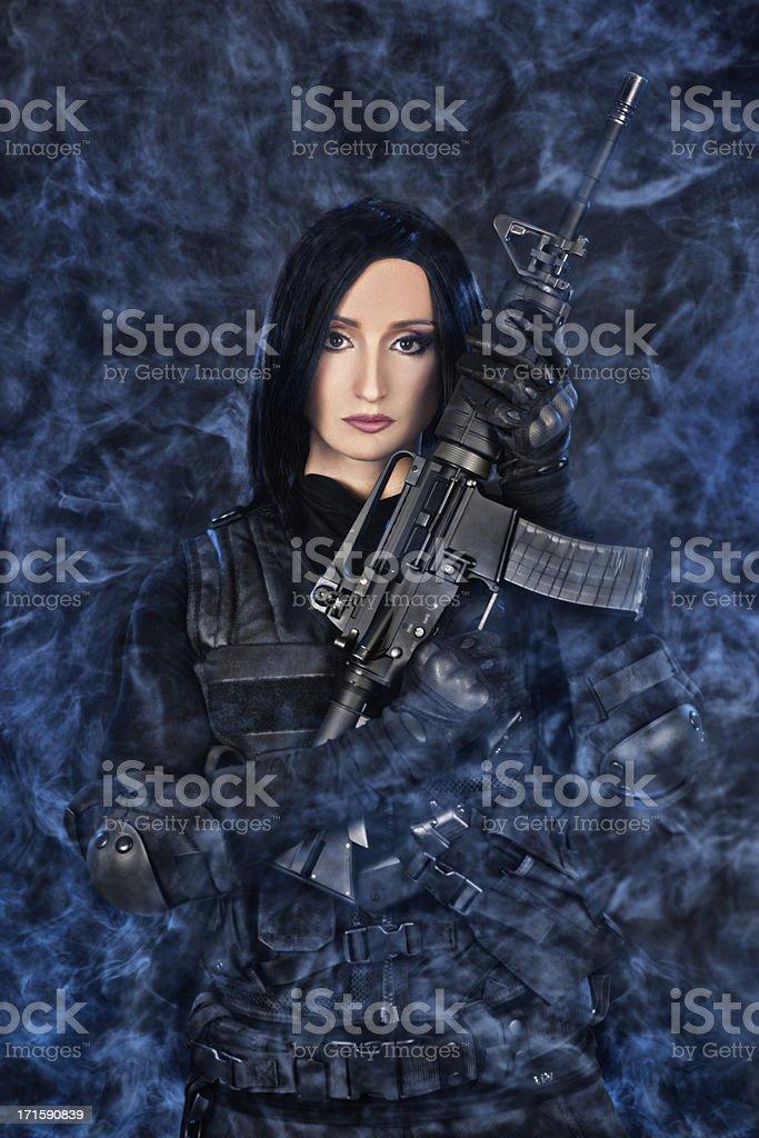Modern warrior royalty-free stock photo