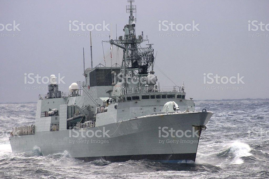 Modern Warship royalty-free stock photo